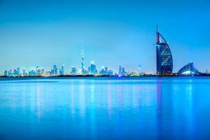 Burj Al Arab Hotel with Dubai Skyline, Dubai